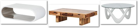 voorbeelden salontafel modellen